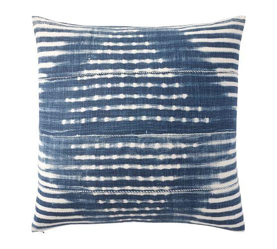 shibori print pillow pb